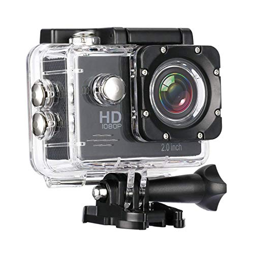 Mobicloud 1080P HD Water Resistant Sports Wi Fi Action Camera (12MP) with Remote Control and 2 Inch Display