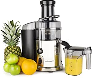 Andrew James Masticating Slow Juicer Review : Andrew James Professional Whole Fruit Super Power Juicer 1035 watts in Brushed Chrome, includes ...