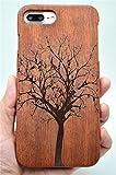 Holzsammlung Coque iPhone 7 Plus en Bois Véritable - Sapin de Noël de palissandre -...