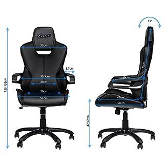 nitro-concepts nc-e200r-bc silla Gaming E200Race Faux Piel 124x 54x 50cm