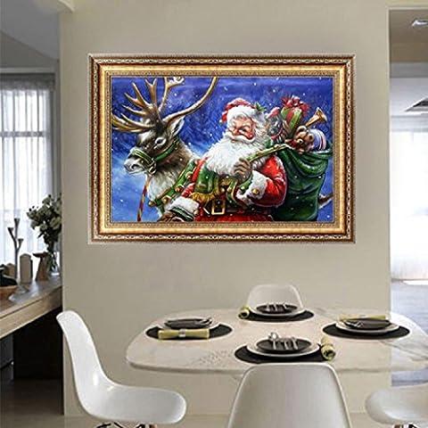 DIY 5D diamant peinture Père Noël Kit point de croix Accueil décorations
