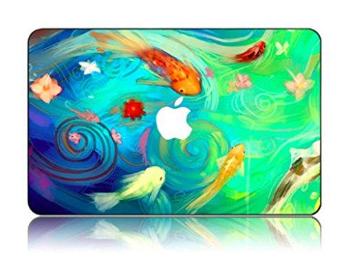 Cartoon Kollektion Hochwertige Hartschale Ultra Dünn Snap Case Schutzhülle Für New Macbook Pro 13 Zoll (2016 Freisetzung) (Modelle: A1706 / A1708) mit/ohne Touch Bar and Touch ID (koi - fische) (Koi-snap)