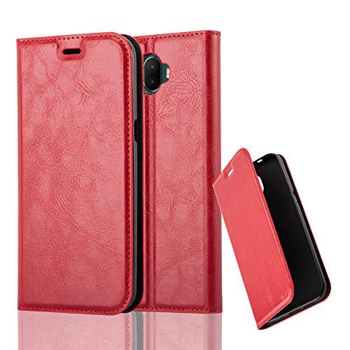 Cadorabo Hülle für WIKO WIM - Hülle in Apfel ROT – Handyhülle mit Magnetverschluss, Standfunktion und Kartenfach - Case Cover Schutzhülle Etui Tasche Book Klapp Style
