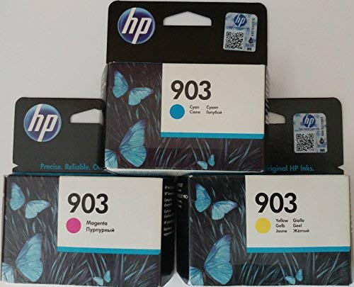 HP 903 cian/magenta/amarillo Cartuchos de Tinta original para impresora HP Officejet 6950, HP Officejet Pro 6960 6970
