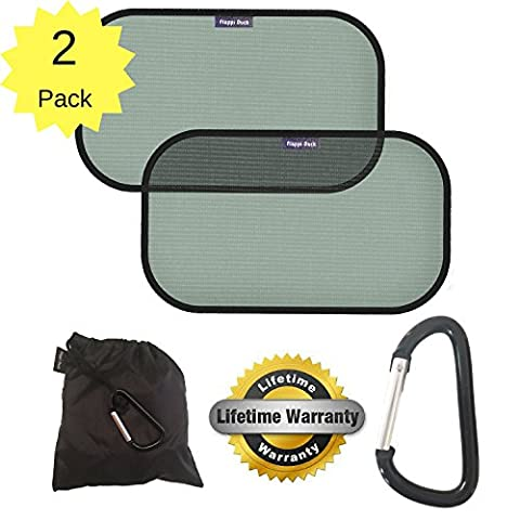 Car Window Shades | Car Sun Shade | Car Sun Shades for Baby | Children UV Sunshades for Cars | Car Blinds | Rear Side Window | FREE Strong Mammy Clip | Pack Of 2 | Blocks 98% Of UV Rays | Protect Your Children And Pets | Cling Static Fit | 100% Lifetime Guarantee