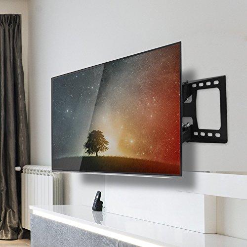 SIMBR Support Mural TV Orientable Inclinable Six Bras Pivotant Fixation  Murale pour écrans LED LCD Plasma et Incurvés DE 76 à 216cm (30 à 85