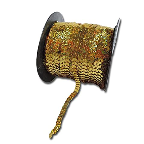 Maya Road SQR3035 Sparkle Sequins Trim, Shimmer Gold