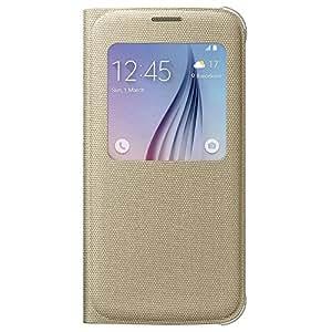 Samsung EF-CG920BFEG Etui Folio de Protection S-View pour Samsung Galaxy S6 - Or