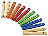 Nino Percussion Claves - Multi-colored - 6 Paar (NINO502-MC)