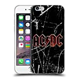 Head Case Designs Offizielle AC/DC ACDC Rot Grunge Logo Soft Gel Hülle für iPhone 6 / iPhone 6s