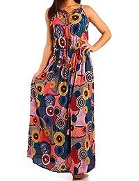 Young-Fashion - Robe - Ajourée - Imprimé Aztèque - Sans Manche - Femme