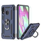 d5662bf954a LeYi Funda Samsung Galaxy A40 Armor Carcasa con 360 Anillo iman Soporte  Hard PC y Silicona TPU Bumper antigolpes Fundas Carcasas Case para movil  Samsung A40 ...