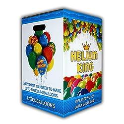 Helium für Luftballons XXL 420 Liter Einweg Heliumflasche Helium Ballongas für bis zu 50 Ballons