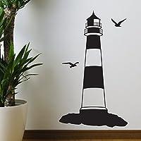 Faro-Adesivo da parete, motivo: Silhouette di StickerStudio, nero, Small 25cm x 58cm