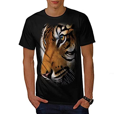 Bengal White Tiger Men L T-shirt | Wellcoda