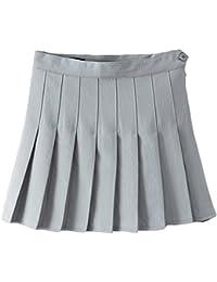 666f1add98e Summer Girls Teens High Waist Pleated Mini Skirts School Skirt Uniform Women  Solid A-line