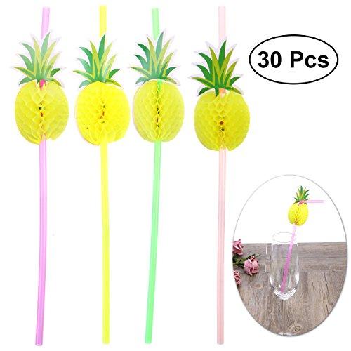 nas Party Strohhalme Hawaiian Trinkhalme Sommer Beach Party Dekoration Luau Party Supplies ()