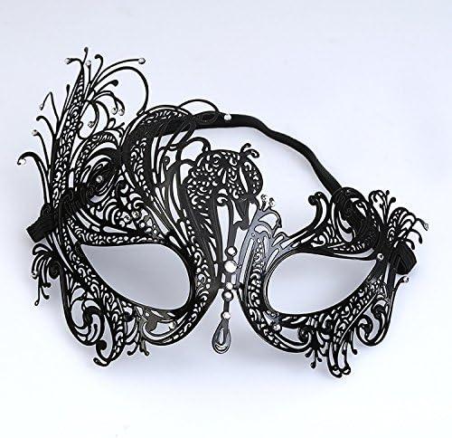 Driverder Boule Strass métallique métallique métallique Princesse Maquillage Party Masque One-Eye Half Face Masque (Noir) | Respectueux De L'environnement  d4acac