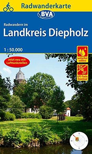 Radwanderkarte BVA Radwandern im Landkreis Diepholz mit Begleitheft 1:50.000, reiß- und wetterfest, GPS-Tracks Download (Radwanderkarte 1:50.000)