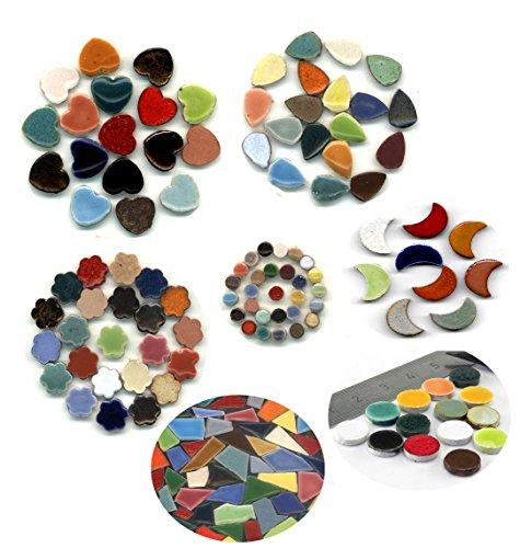 Mosaic-minis Mélange variés 1170 pièces, Micro rond - Pelle - Cœur - Fleurs - Lunes