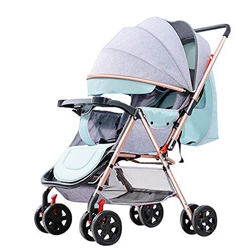 Cochecitos Bidireccional/Plegable Portátil Se Puede Sentar El Baby Parasol Car Multifunción con Ruedas Universales Viaje En El Exterior Cochecito De Bebé / 0-3 Años Carrito De Bebé Ligero,Grey