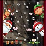 LUCOG Stickers Noel Arts Décoratifs Cadeau pour enfants Festival Portes et fenêtres Décoration Vitrine Vitrine Arrangement de scène en verre Autocollant Flocon de neige Autocollant mural 60X90CM