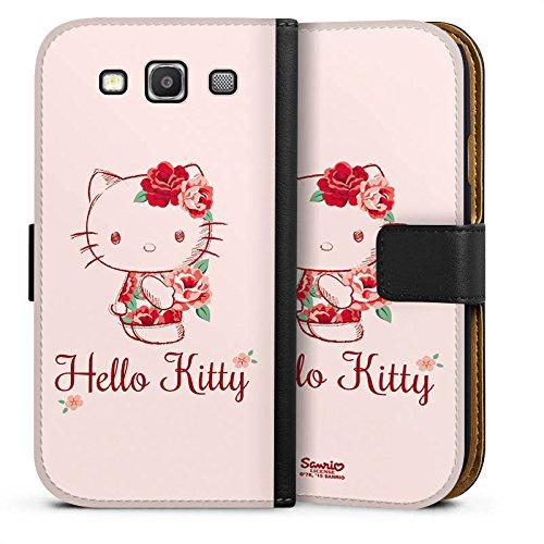 DeinDesign Tasche kompatibel mit Samsung Galaxy S3 Neo Leder Flip Case Ledertasche Hello Kitty Geschenke Merchandise Roses