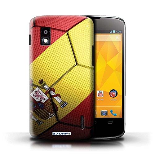 Kobalt® Imprimé Etui / Coque pour LG Nexus 4/E960 / Portugal conception / Série Nations de Football Espagne/Espagnol