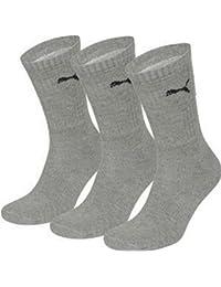 12 Paar Puma Herren Damen Short Crew Socken Strümpfe Sport  35-38 anthrazit//grau