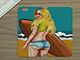 LEotiE SINCE 2004 Handy Tasche Passend für iPhone 6 Plus Sexy Girl Hot Pants