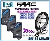 3 X FAAC TM1 868DS / TM2 868DS / TM3 868DS compatible mandoo a destancia, 868,3Mhz fixed code CLONES. 3 piezas de 4-canales CLON transmisores Al mejor