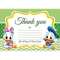 10 x Baby Minnie Paperino Daisy Thank You Cards