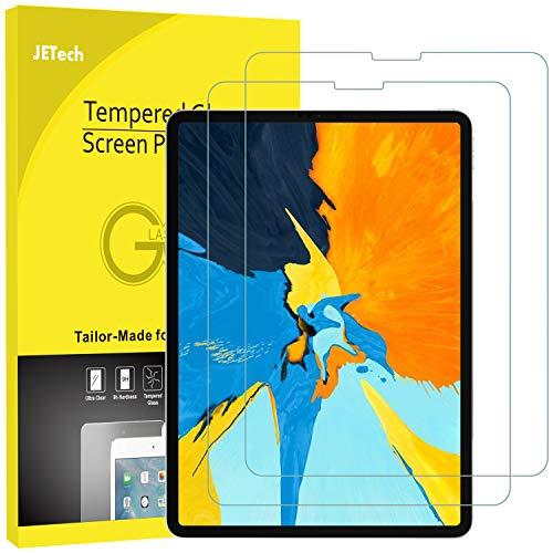 JETech 2 Stück Schutzfolie für iPad Pro 11 Zoll (2018 Veröffentlichung Kante zu Kante Liquid Retina Display), Gehärtetem Glas Panzerglas Displayschutzfolie