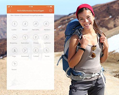 TOOBUR Schrittzähler Fitness Armband Uhr, IP67 Wasserdicht Fitness Tracker Smart Watch mit Herzfrequenz Schlafmonitor und Kalorienzähler, Aktivitätstracker Armbanduhr für Damen Herren - 5