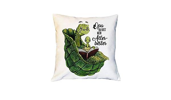 issen Dekokissen Zierkissen Schildkröte Spruch Opa bist mein Allerbester ks241