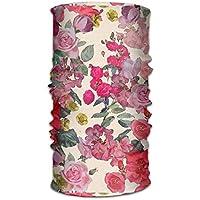 jiantsk Antique Floral Print Outdoor Wide Headband Elastic Seamless Scarf UV Resistence Sport Headwear for Men&Women