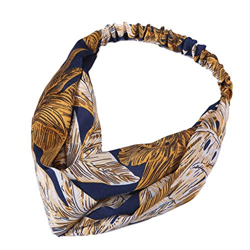 Yvelands Mode Damen Stirnbänder Haar Stirnband Haarschmuck Weinlese-Blume druckte elastische Kopf-Verpackungs-verdrehte Nette Haar-Zusätze Net 10 Handys