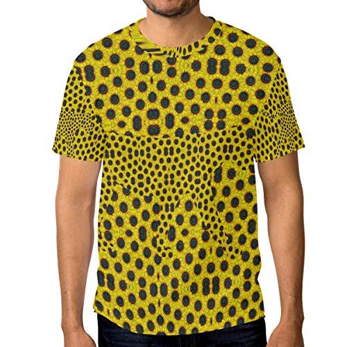 T-Shirt für Männer Jungen Floral Leopard Sunflower Pattern Benutzerdefinierte Kurzarm -