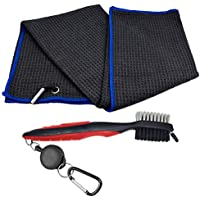 Conjunto de cepillo y toalla de golf Club, 3 en 1 retráctil Club Brush &