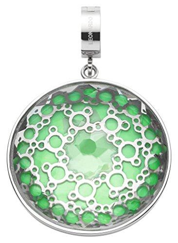 JEWELS BY LEONARDO Damen-Anhänger & clips Edelstahl Novita Darlin\'s Glas klar vert silber Clipverschluss Blume Blüte 016546