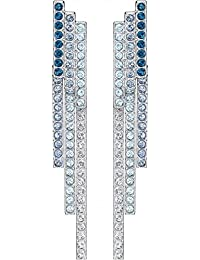 Swarovski Mujer    acero inoxidable redondo   azul cristal FASHIONEARRING