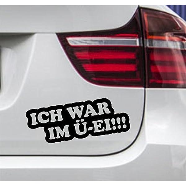 Wdesigns 2er Set Autoaufkleber Ich War Im Ü Ei Smart Klein Auto Tuning Aufkleber Sticker Auto