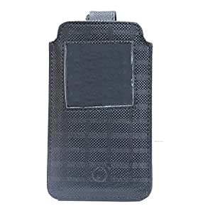 Jo Jo A10 D4 Leather Carry Case Pouch Wallet S View For Samsung Galaxy C7 Black