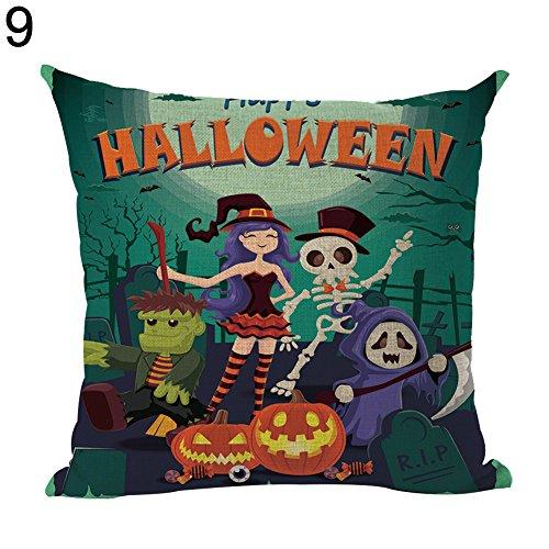 YSoutstripdu Fashion Cartoon Ghost Kissen Fall Buchstabe Kissenbezug Halloween Party Decor, 9#, Einheitsgröße (Halloween 9 Buchstaben)