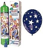 Einweg Helium Gasflasche mehr 13Luftballons mit Druck Stern