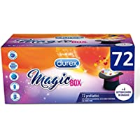 Durex Magic Box Preservativi 3 Varietà: Sync, Performa e Pleasuremax, 72 Pezzi