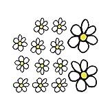 Autostyle 1/03009 Autotattoo Blumen, 13,5x15,5cm, Weiß/Gelb