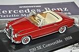Ixo Mercedes-Benz 220SE Cabrio Rot Braun 1958 W111 Inkl Zeitschrift Nr 11 1/43 Modell Auto mit individiuellem Wunschkennzeichen