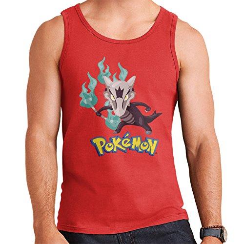 Alola Marowak Pokemon Sun Moon Men's Vest Red