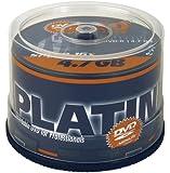 Platinum 4,7 GB DVD-R DVD-Rohlinge (16x Speed) 50er Spindel